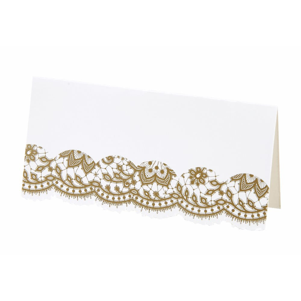 Party Porcelain Gold Place Cards, TT-Talking Tables, Putti Fine Furnishings