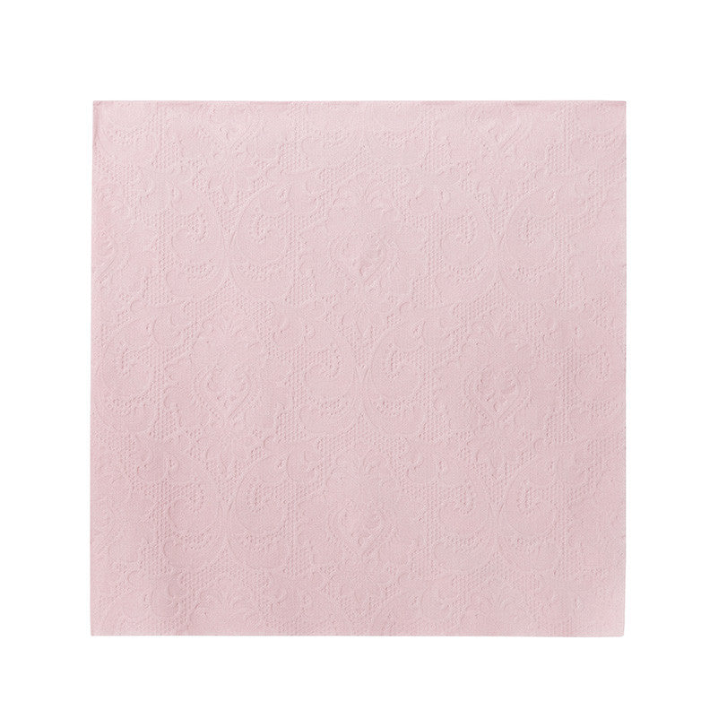 Party Porcelain Rose Embossed Paper Napkins - Large