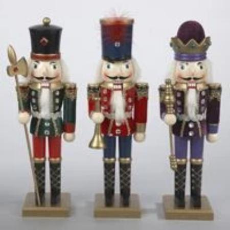 Kurt Adler Wooden Soldier Nutcrackers