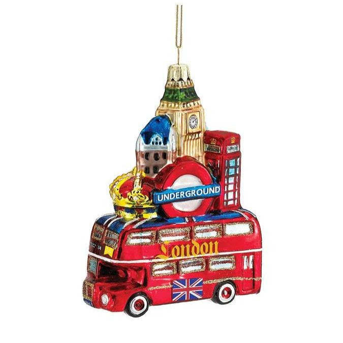 Kurt Adler London Cityscape Glass Ornament  | Putti Christmas