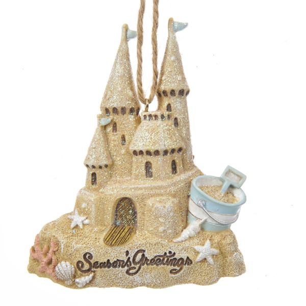 Kurt Adler Coastal Sand Castle Ornament