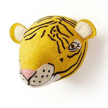 Felt Safari Trophy head - Tiger, TC-Two's Company, Putti Fine Furnishings