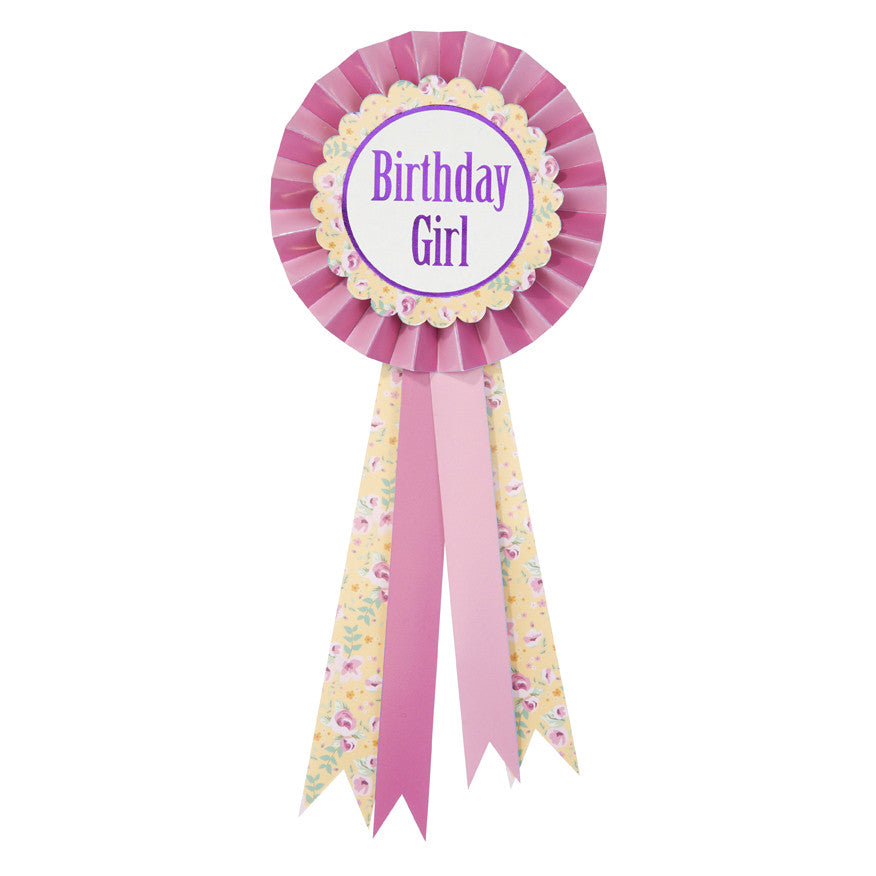 Birthday Girl Rosette Badge -  Party Supplies - Talking Tables - Putti Fine Furnishings Toronto Canada - 1