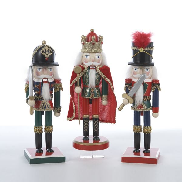 Kurt Adler Wooden King and his Soldiers Nutcrackers