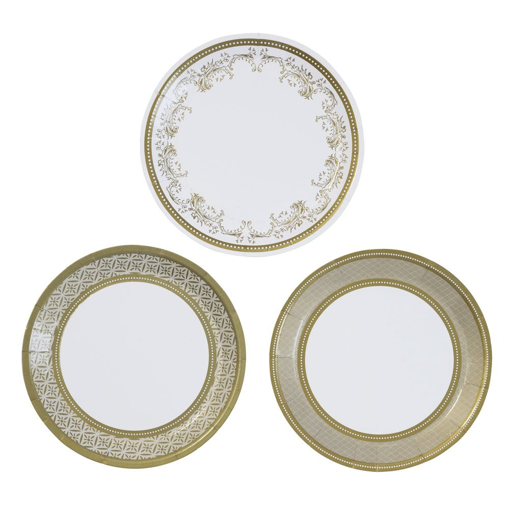 Party Porcelain Gold Canape Plates -  Paper Plates - Talking Tables - Putti Fine Furnishings Toronto Canada - 1