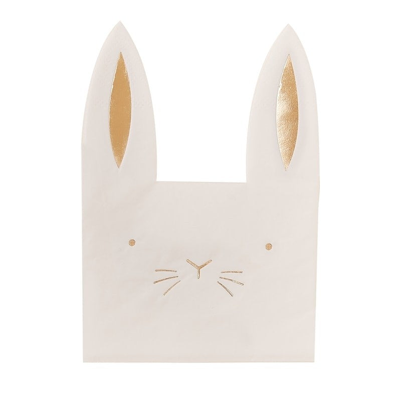 Ginger Ray Easter Bunny Shaped Napkins | Putti Party Supplies
