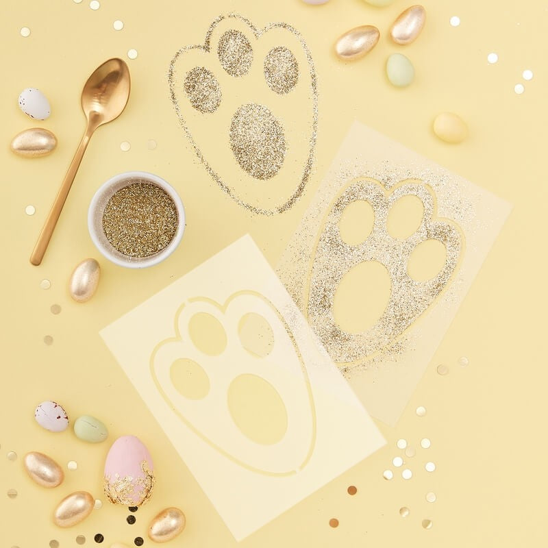 Ginger Ray Easter Bunny Foot Print Stencil | Le Petite Putti Party Supplies
