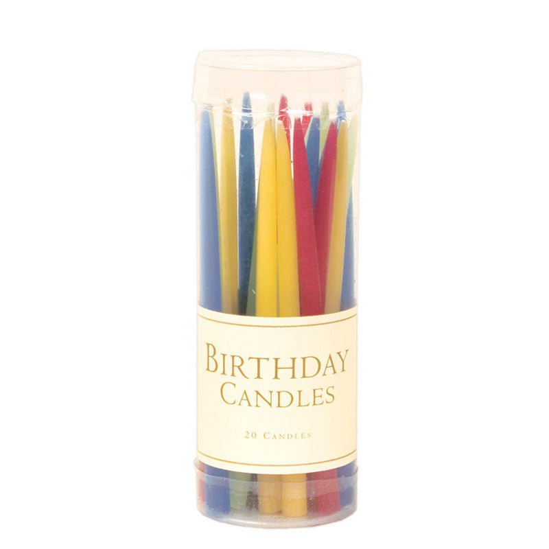 Birthday Candles - Brights, CI-Caspari, Putti Fine Furnishings