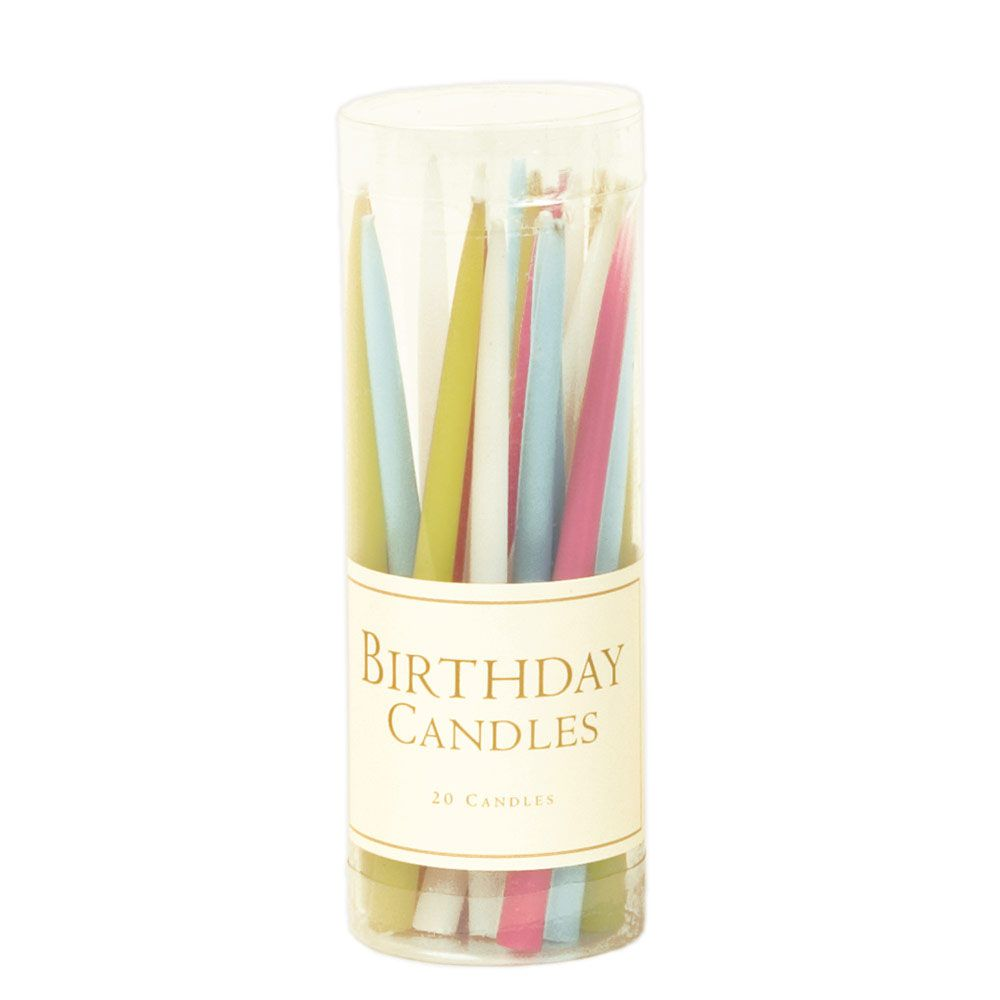 Birthday Candles - Pastel, CI-Caspari, Putti Fine Furnishings