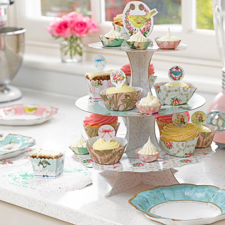 Frills and Frosting Three Tier Cake Stand-Party Supplies-TT-Talking Tables-Putti Fine Furnishings
