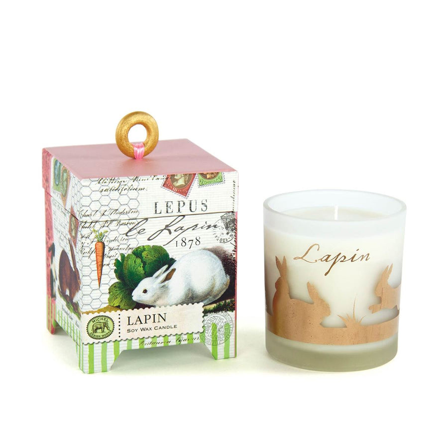 "Michel Design Works ""Lapin"" Bunnies Soy Wax Candle - 6oz"