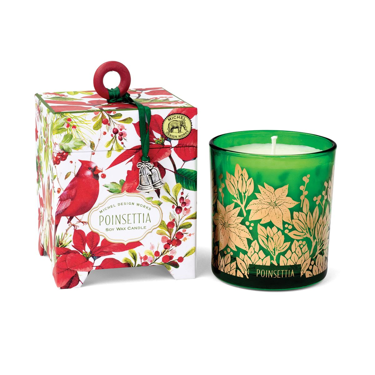 Michel Design Works Poinsettia Candle 6.5oz | Putti Christmas Canada