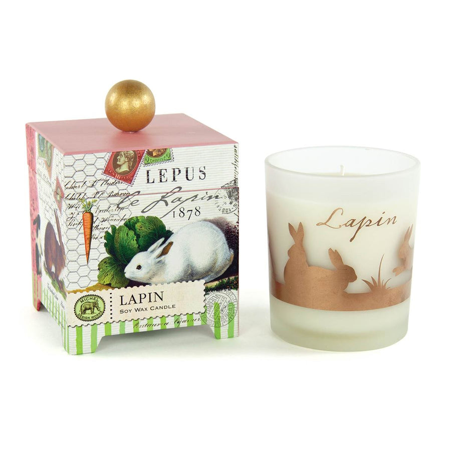 "Michel Design Works ""Lapin"" Bunnies Soy Wax Candle - 14oz"