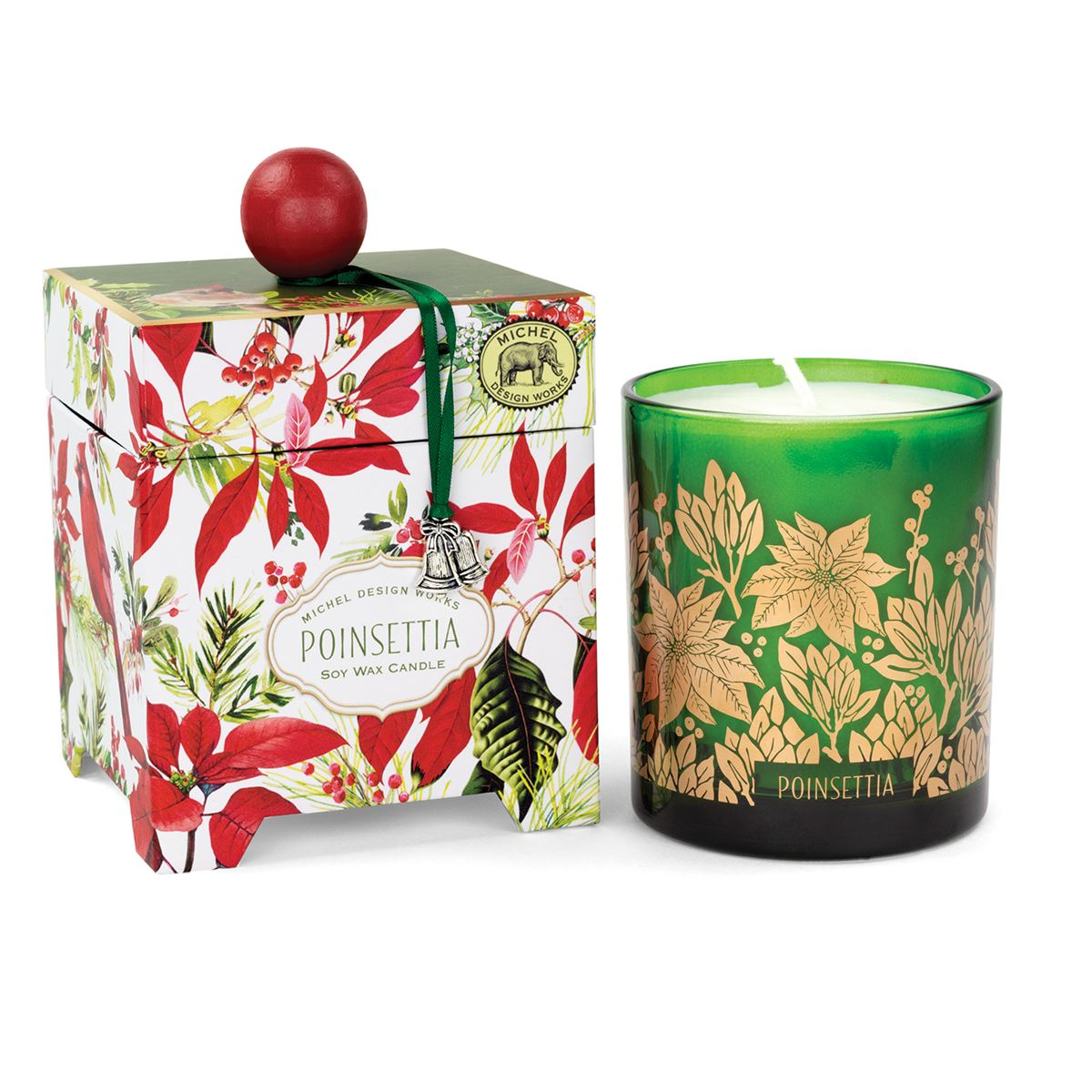 Michel Design Works Poinsettia Candle 14oz | Putti Christmas Canada