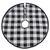 Black and White Buffalo Check Tree Skirt  | Putti Christmas Celebrations Canada