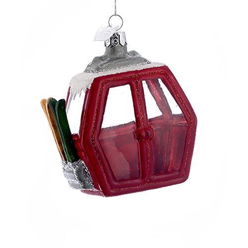 Kurt Adler Ski Cable Car Glass Ornament | Putti Christmas Canada