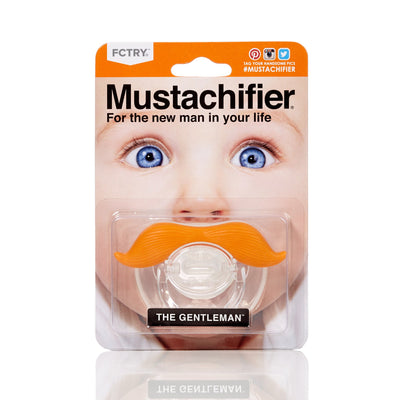 "Mustachifier Pacifier ""The Gentleman"" - Ginger -  Children's - TTG-The Tate Group - Putti Fine Furnishings Toronto Canada - 1"