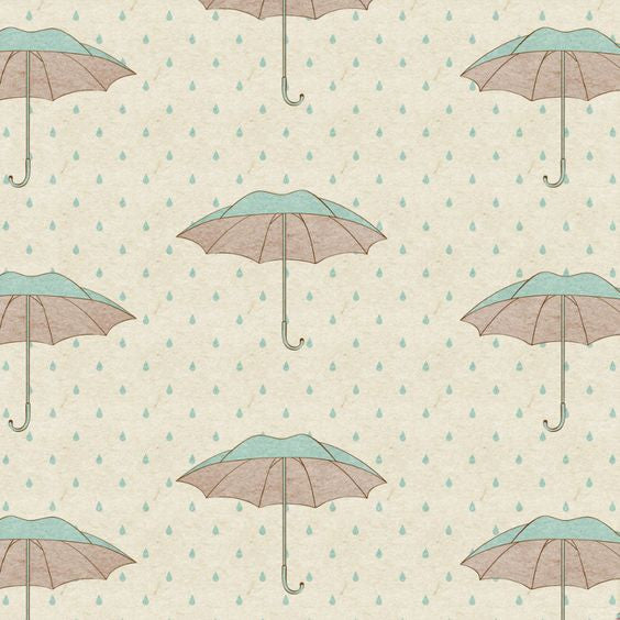 """Shower Brollies"" Paper Luncheon Napkin, Design Home, Putti Fine Furnishings"