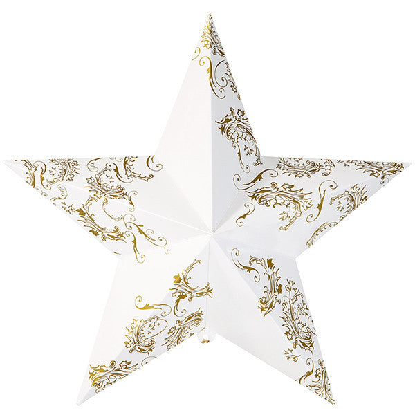 Party Porcelain Gold Hanging Star Decorations -  Paper Plates - Talking Tables - Putti Fine Furnishings Toronto Canada - 4