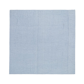 Designers Guild Quilt Chenevard Sky & Chalk-Soft Furnishings-DG-Designers Guild-Standard Quilt 230 x 230cm-Putti Fine Furnishings