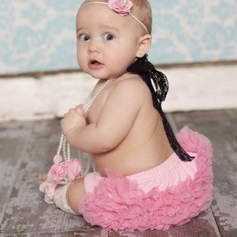 "Dollcake ""Cherry Blossom"" Frilly Bloomers-Children's Clothing-Dollcake-3 to 6 months-Putti Fine Furnishings"
