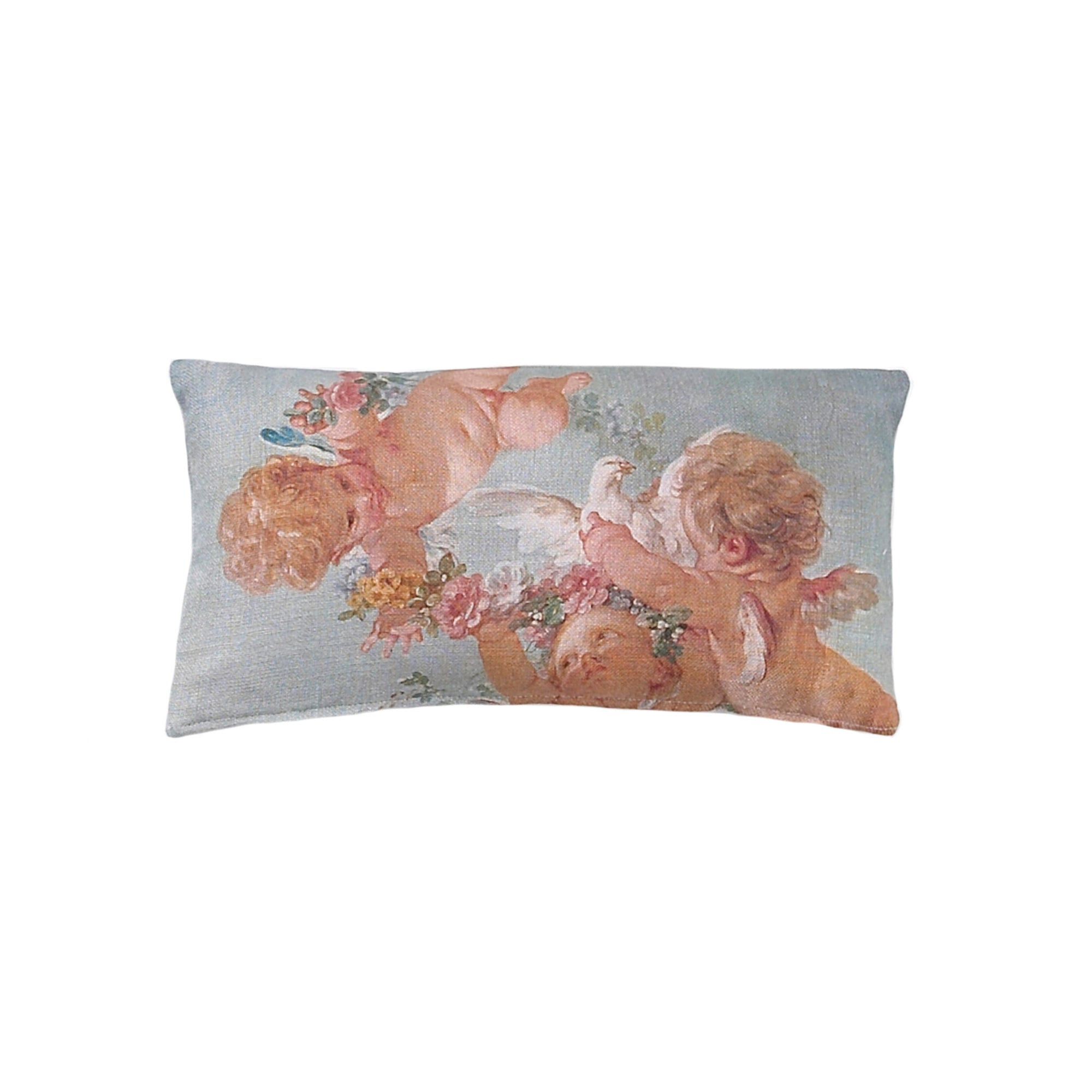 Cherub Cushion 40cm x 22cm, B&C-Boho & Co, Putti Fine Furnishings