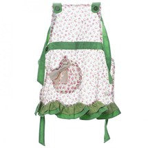Miss Rose Sister Violet Child's Green Floral Apron -  Apron - Miss Rose Sister Violet - Putti Fine Furnishings Toronto Canada - 1