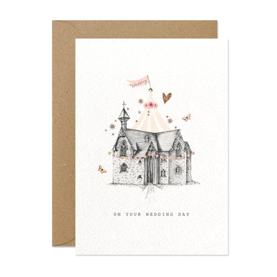 "Stephanie Davies ""On your Wedding Day"" Wedding Greeting Card 