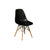 """Eifle""Mid Century Chair - Black"