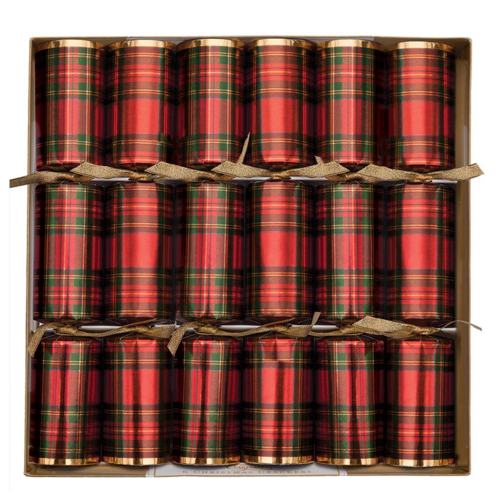 Caspari Plaid Christmas Crackers | Putti Christmas