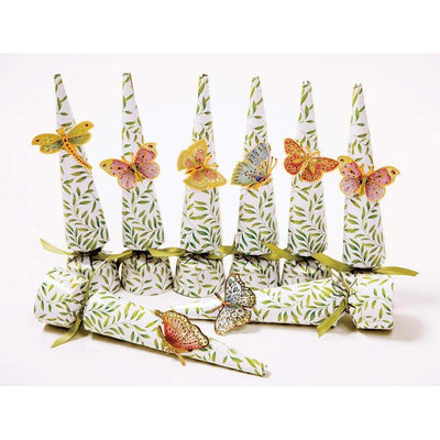 Jewelled Butterfies Cone Crackers | Putti Christmas Celebrations Canada