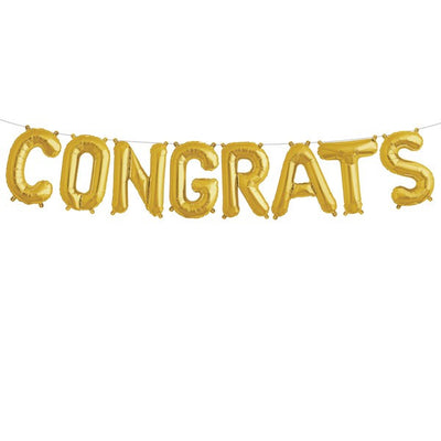"Gold Foil ""Congrats"" Balloon Banner, Northstar Balloons, Putti Fine Furnishings"