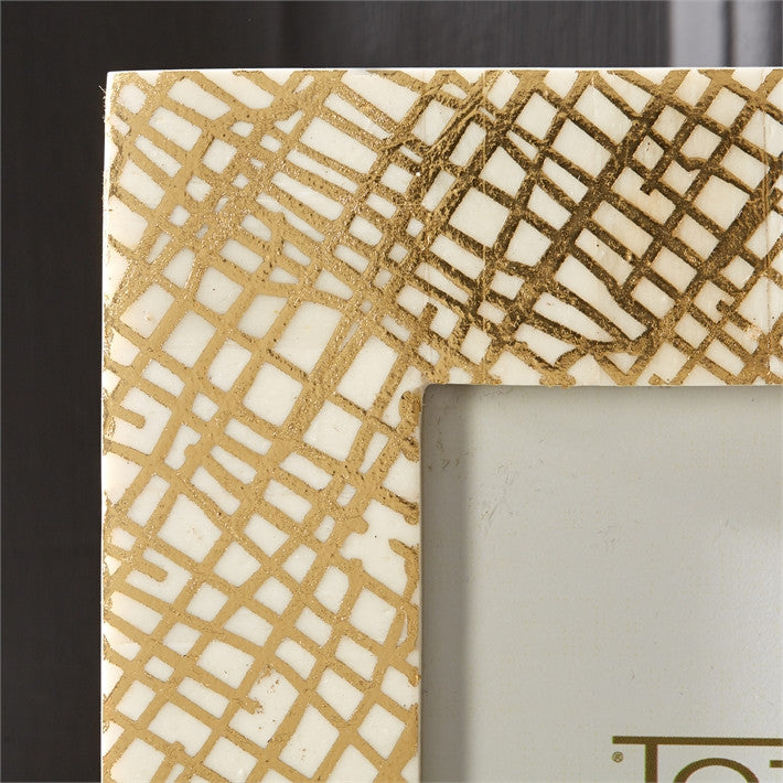 Tozai Gold Foil Printed Bone Picture Frames