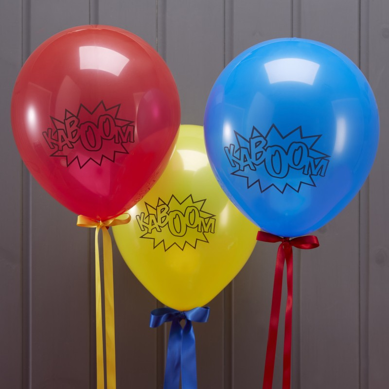 "Superhero ""Kaboom"" Balloons, GR-Ginger Ray UK, Putti Fine Furnishings"