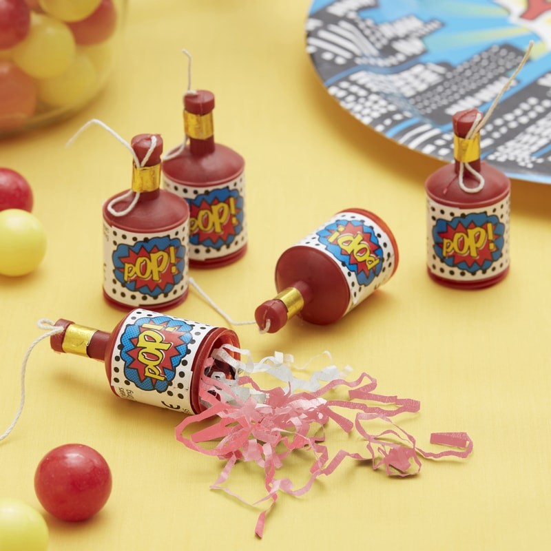 """Pop"" Superhero Party Poppers"