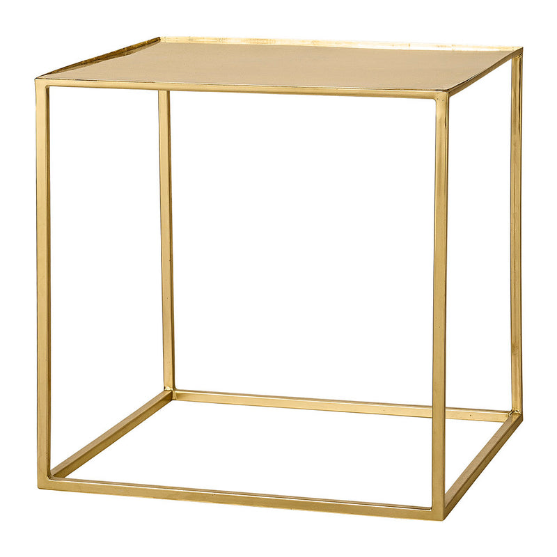 Bloomingville Gold Cube Side Table