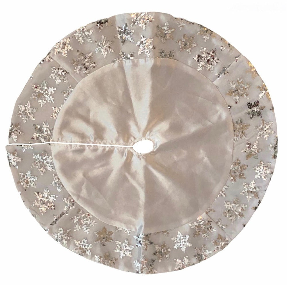 Kurt Adler Miniature White Satin Snowflake Tree Skirt