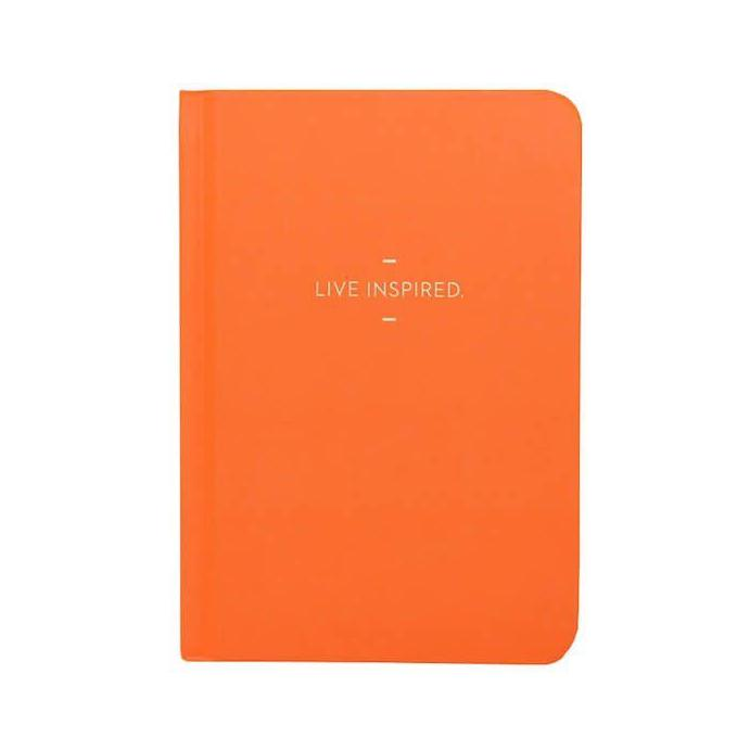 "Compendium ""Live Inspired"" Orange Motto Journal - Putti Fine Furnishings"