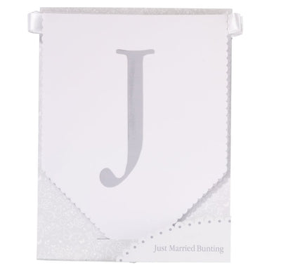 """Just Married"" Bunting -  Party Supplies - Talking Tables - Putti Fine Furnishings Toronto Canada - 2"