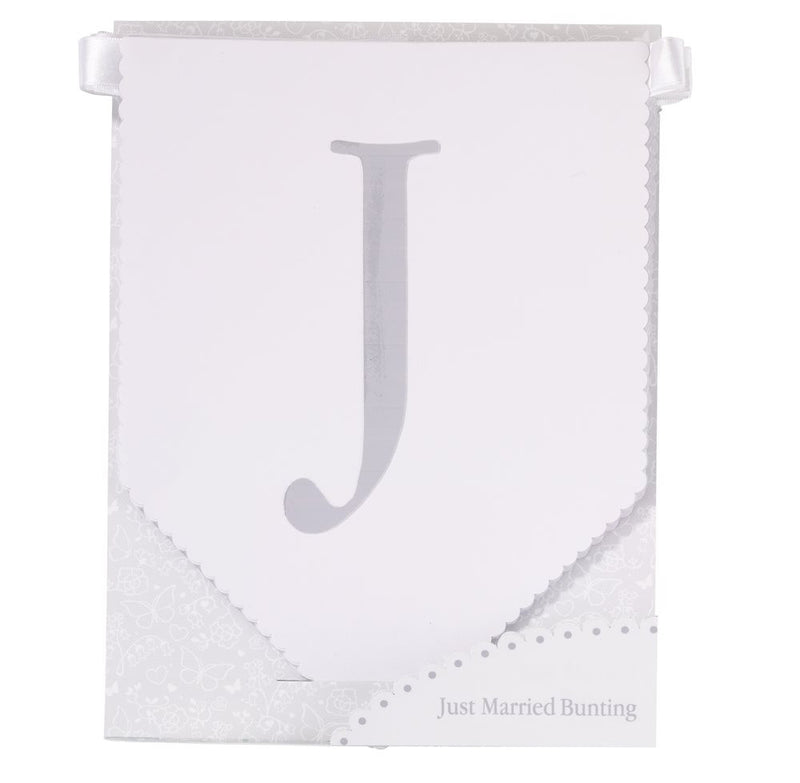 """Just Married"" Bunting -  Party Supplies - Talking Tables - Putti Fine Furnishings Toronto Canada - 1"