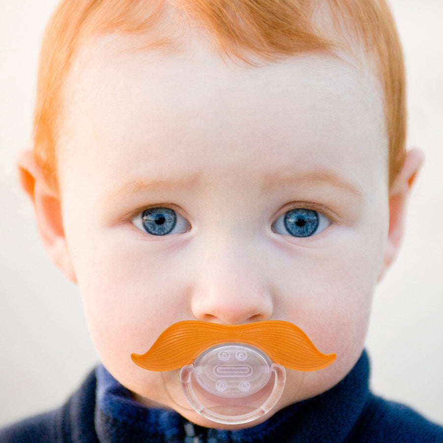 "Mustachifier Pacifier ""The Gentleman"" - Ginger"