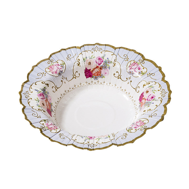 Truly Scrumptious Floral Paper Bowls -  Party Supplies - Talking Tables - Putti Fine Furnishings Toronto Canada - 3