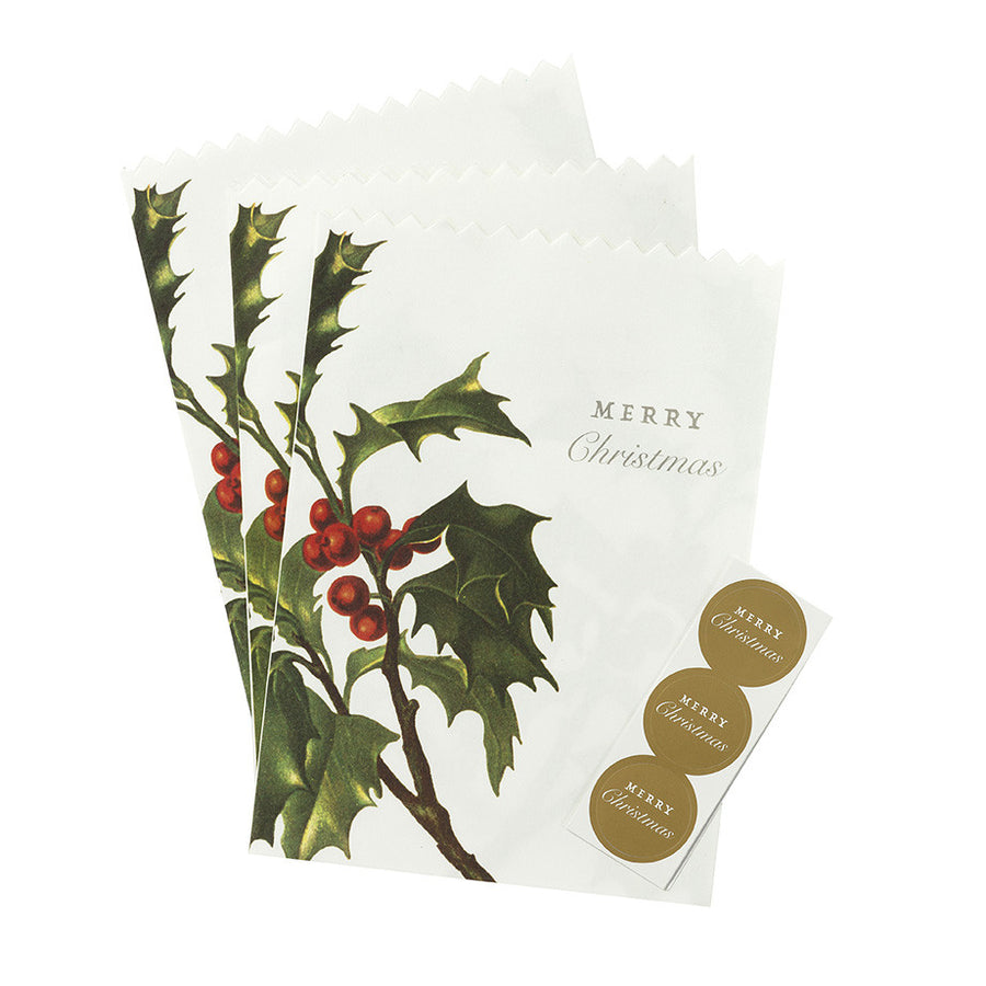 Botanical Christmas Paper Bags, TT-Talking Tables, Putti Fine Furnishings