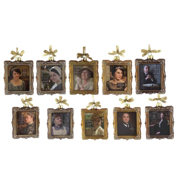Kurt Adler Downton Abbey® Glass Frame Ornaments | Putti Christmas Decorations