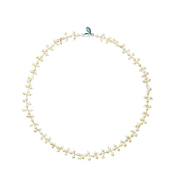 Dancing Pearl Gold Necklace