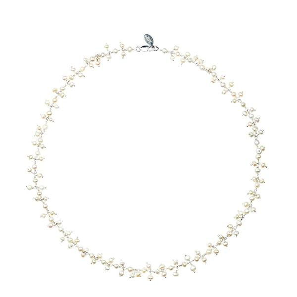 Dancing Pearl Silver Necklace