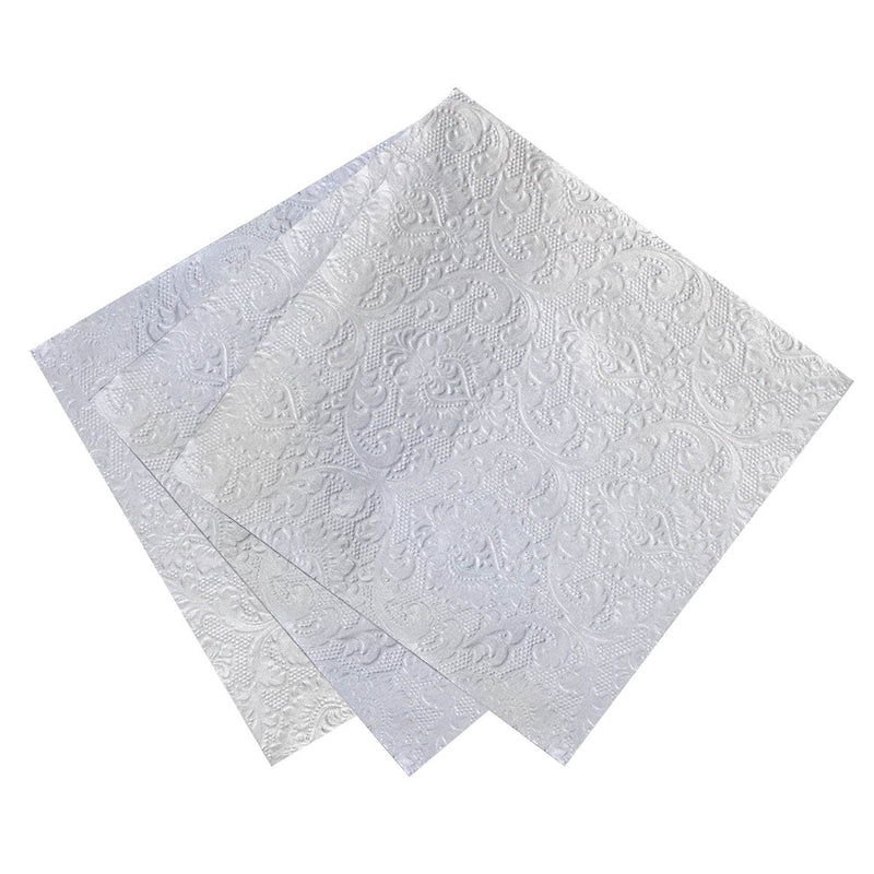 Talking Tables Party Porcelain Silver Embossed Napkins | Le Petite Putti