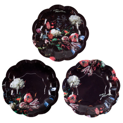 Baroque Floral Small Paper Plates, TT-Talking Tables, Putti Fine Furnishings