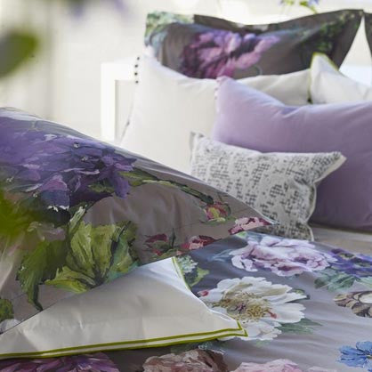 "Designers Guild Alexandria Amethyst Bedding-Bedding-DG-Designers Guild-King Sham 20"" x 36"" ( 50 x 90cm )-Putti Fine Furnishings"