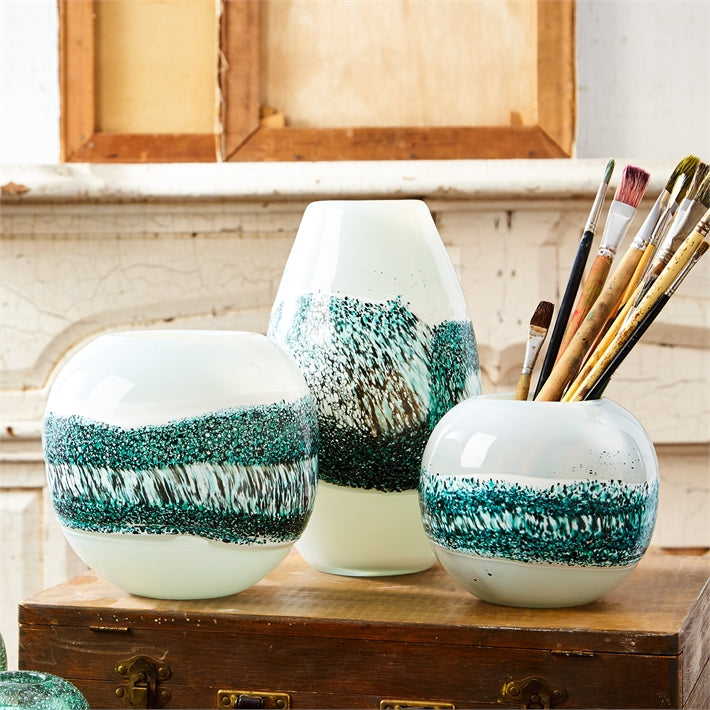 "Tozai ""Quarry"" Hand Blown Vases"